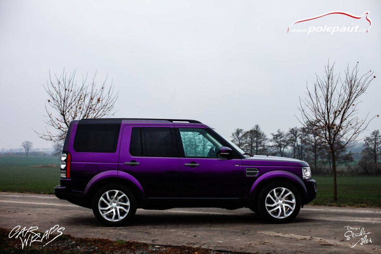 studio ales car wrap polep aut celopolep discovery land rover kpmf purple black (7)