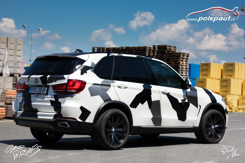 studio ales car wrap polep aut celopolep vinyl wrap bmw X5 camouflage and paint protection (5)