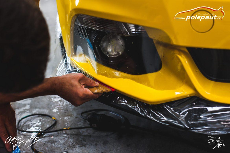 studio ales car wrap polep aut design stoneprotect ochranná folie laku ochrana laku mustang (4)