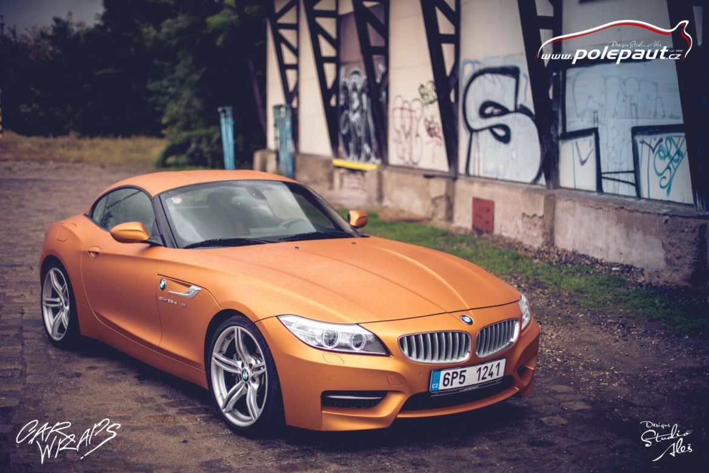 studio ales polep aut car wrap design bmw z4 avery blaze matt orange metallic