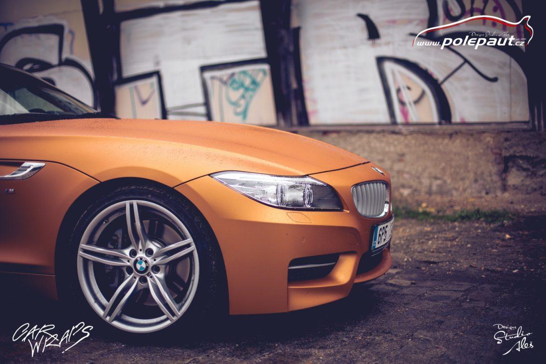 studio ales polep aut car wrap design bmw z4 avery blaze matt orange metallic (4)