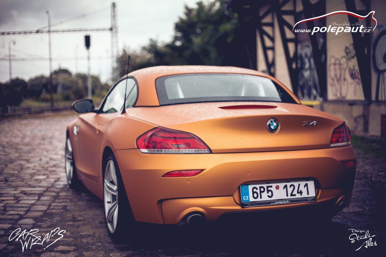 studio ales polep aut car wrap design bmw z4 avery blaze matt orange metallic (9)