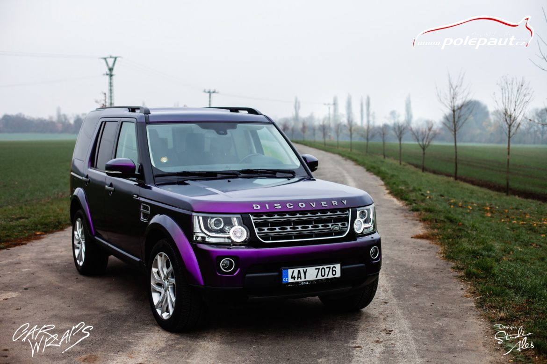 studio ales car wrap polep aut celopolep discovery land rover kpmf purple black (5)