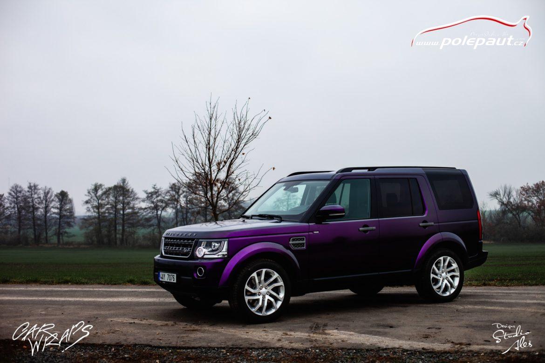 studio ales car wrap polep aut celopolep discovery land rover kpmf purple black (9)