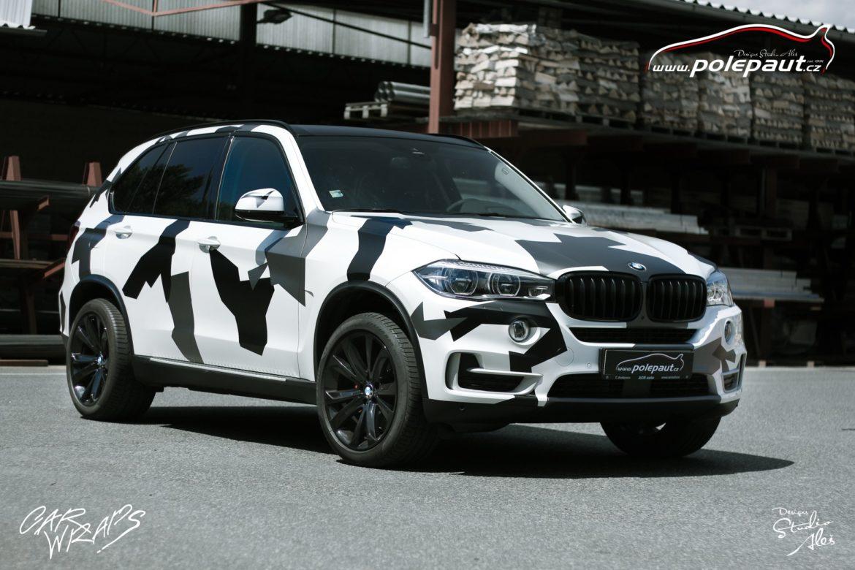 studio ales car wrap polep aut celopolep vinyl wrap bmw X5 camouflage and paint protection (3)