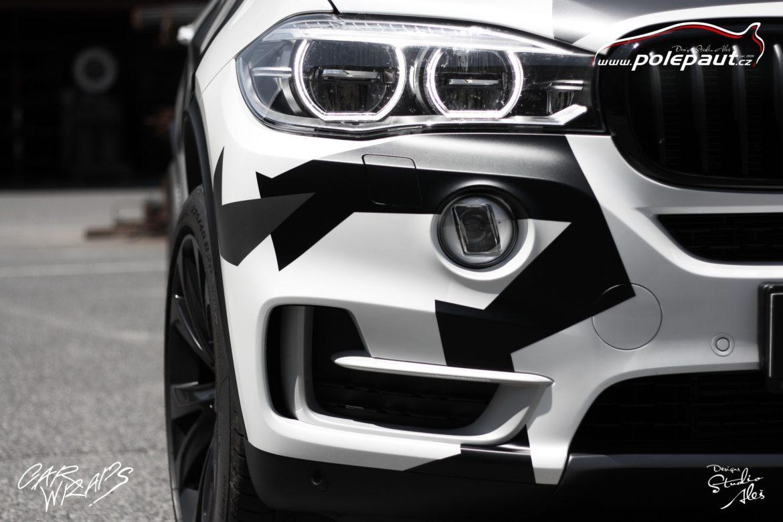 studio ales car wrap polep aut celopolep vinyl wrap bmw X5 camouflage and paint protection (6)