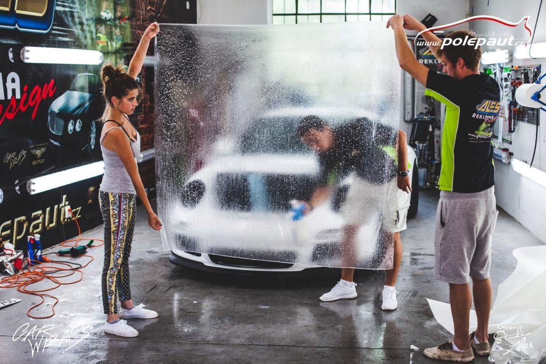 studio ales car wrap polep aut design polyuretan folie ochranna laku porsche GT3 suntek