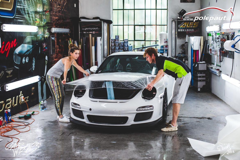 studio ales car wrap polep aut design polyuretan folie ochranna laku porsche GT3 suntek (2)