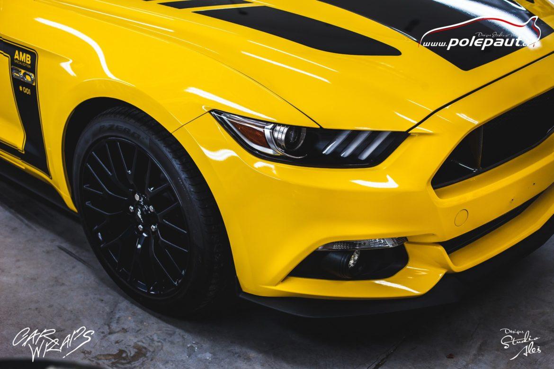 studio ales car wrap polep aut design stoneprotect ochranná folie laku ochrana laku mustang (8)