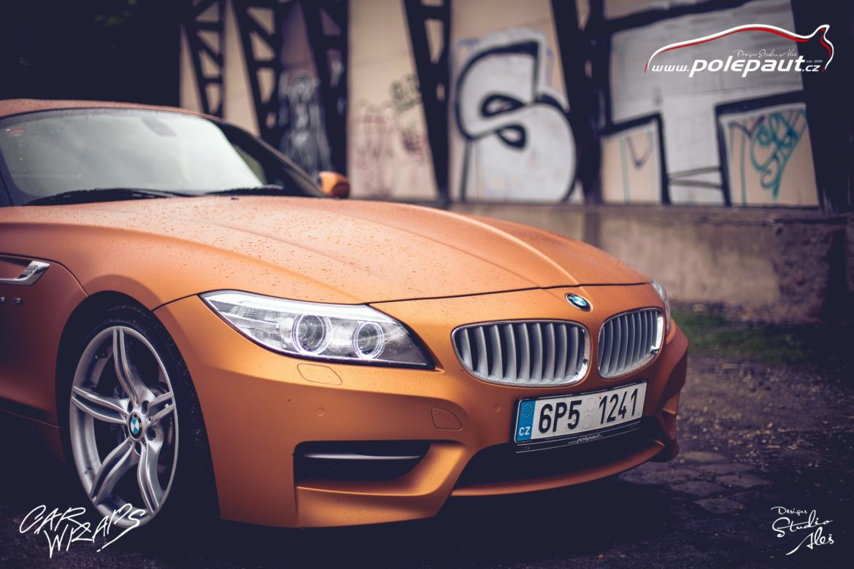 studio ales polep aut car wrap design bmw z4 avery blaze matt orange metallic (6)