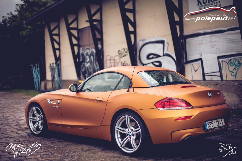 studio ales polep aut car wrap design bmw z4 avery blaze matt orange metallic (7)