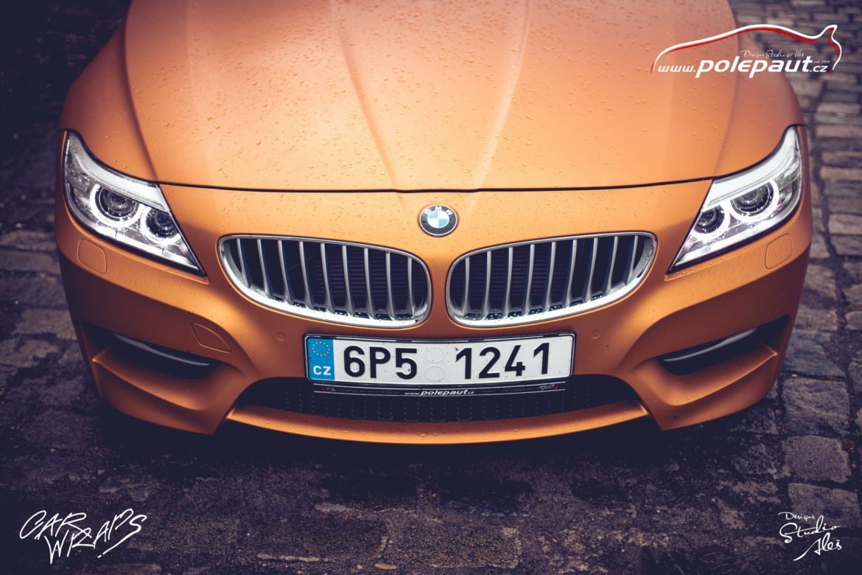 studio ales polep aut car wrap design bmw z4 avery blaze matt orange metallic (8)