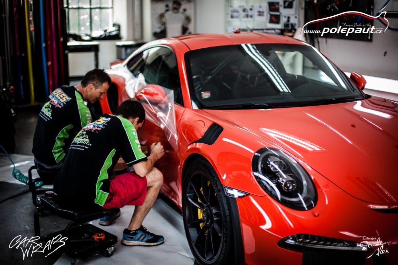 studio ales polep aut car wrap design stoneprotect porsche gt3 orange (5)