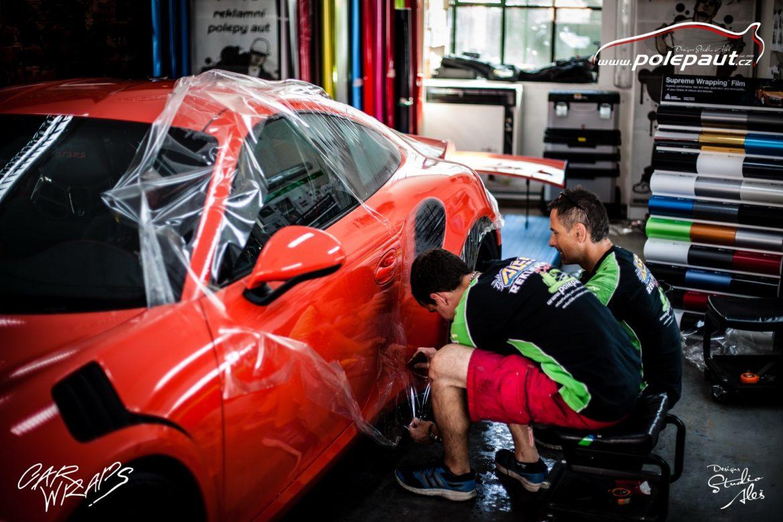 studio ales polep aut car wrap design stoneprotect porsche gt3 orange (9)